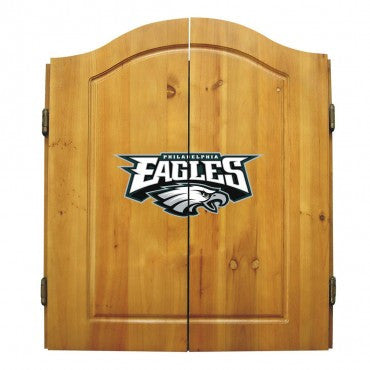 Philadelphia Eagles Dart Cabinet Set with Darts and bristle dartboard