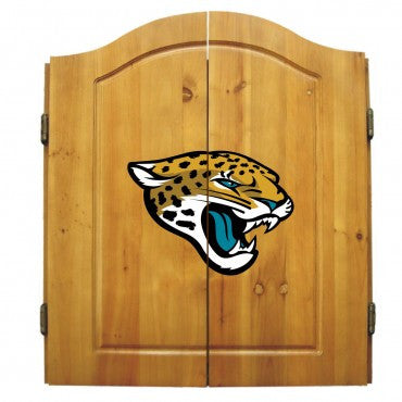 Jacksonville Jaguars Dart Cabinet Set with Darts and bristle dartboard