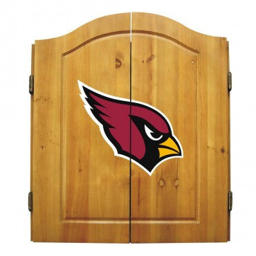 Arizona Cardinals Dart Cabinet Set with Darts and bristle dartboard