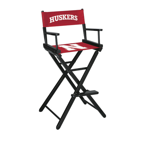 The Nebraska Bar Height Directors Chair for Cornhuskers Man Caves