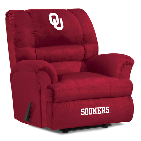The OU Sooners Big Daddy Microfiber Recliiner - Imperial USA IMP 340-3007 Man Cave Recliner