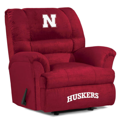 The Nebraska Cornhuskers Big Daddy Microfiber Recliiner - Imperial USA IMP 340-3010 Man Cave Recliner