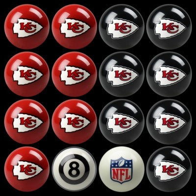 Kansas City Chiefs Pools Balls Billiard for Pooling and balling hitting