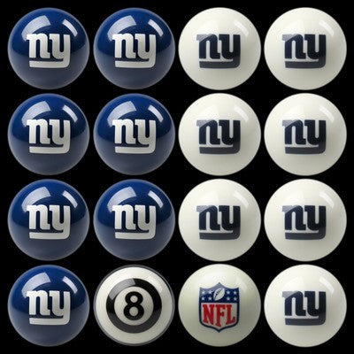 New York Giants Pools Balls Billiard for Pooling and balling hitting