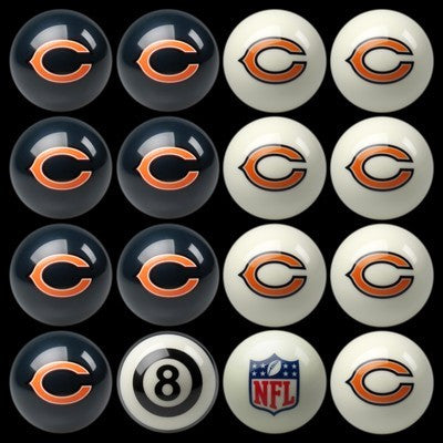 Chicago Bears Billiard Ball Set