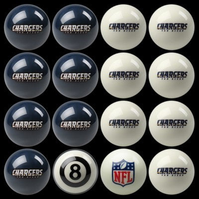 San Diego Chargers Pools Balls Billiard for Pooling and balling hitting