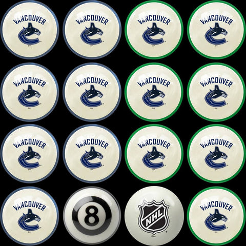 Vancouver Canucks Pools Balls Billiard for Pooling and balling hitting