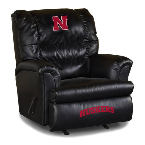 Daddies favorite chair, the University Of Nebraska Bigger Dad Leathered Recliner