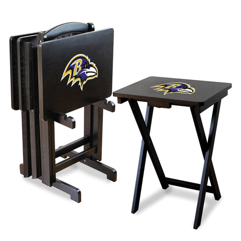 Baltimore Man Cave TV Trays with Ravens Stand