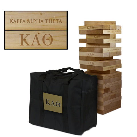Kappa Alpha Theta Giant Jenga Tumble Tower Game