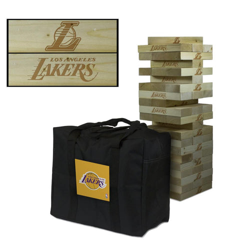 The Los Angeles Lakers Giant Jenga Tumble Tower Game