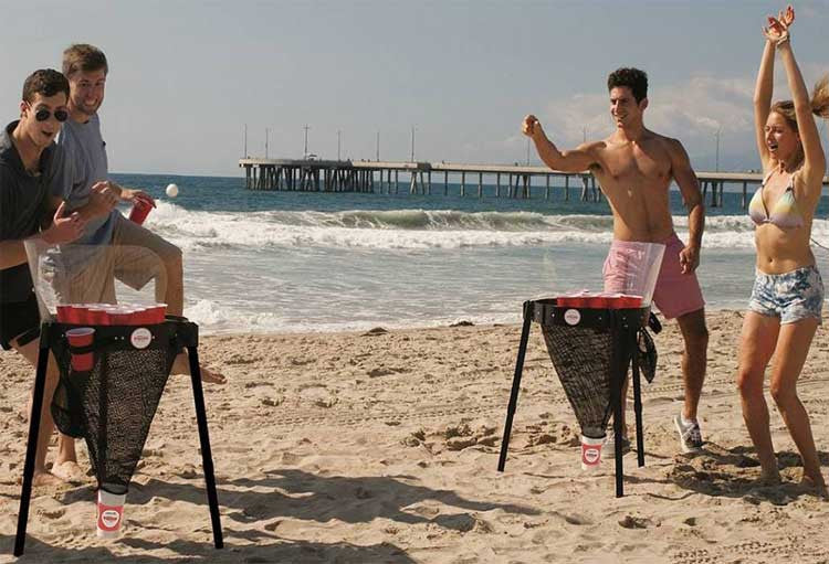 The MegaPongo Beer Pong portable system for tailgating