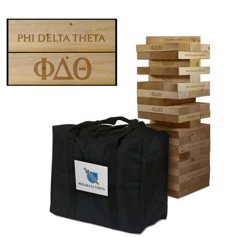 Phi Delta Theta Giant Jenga Tumble Tower Game