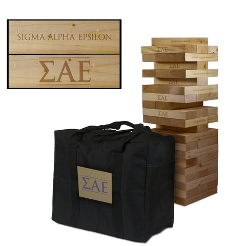 Sigma Alpha Epsilon Giant Jenga Tumble Tower Game