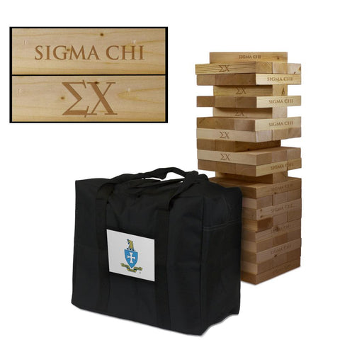 Sigma Chi Giant Jenga Tumble Tower Game