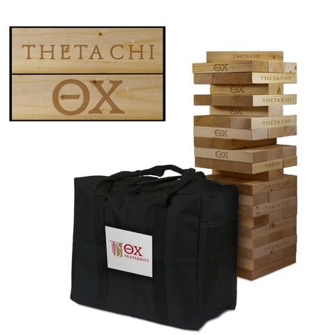 Theta Chi Giant Jenga Tumble Tower Game