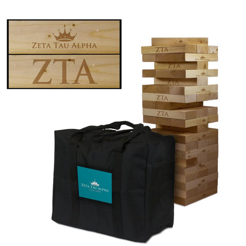 Zeta Tau Alpha Giant Jenga Tumble Tower Game