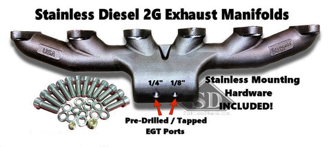Stainless Diesel Cummins cast stainless exhaust manifolds