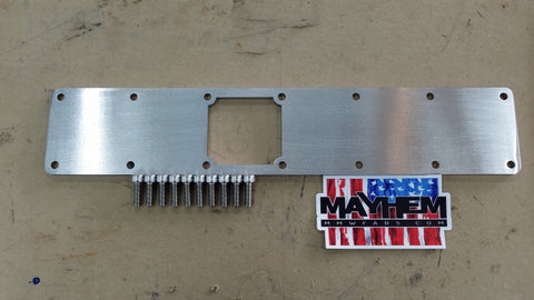 Turbo Diesel 6BT 5.9L 12 & 24 valve Custom Intake Manifold Plate (Factory square hole)