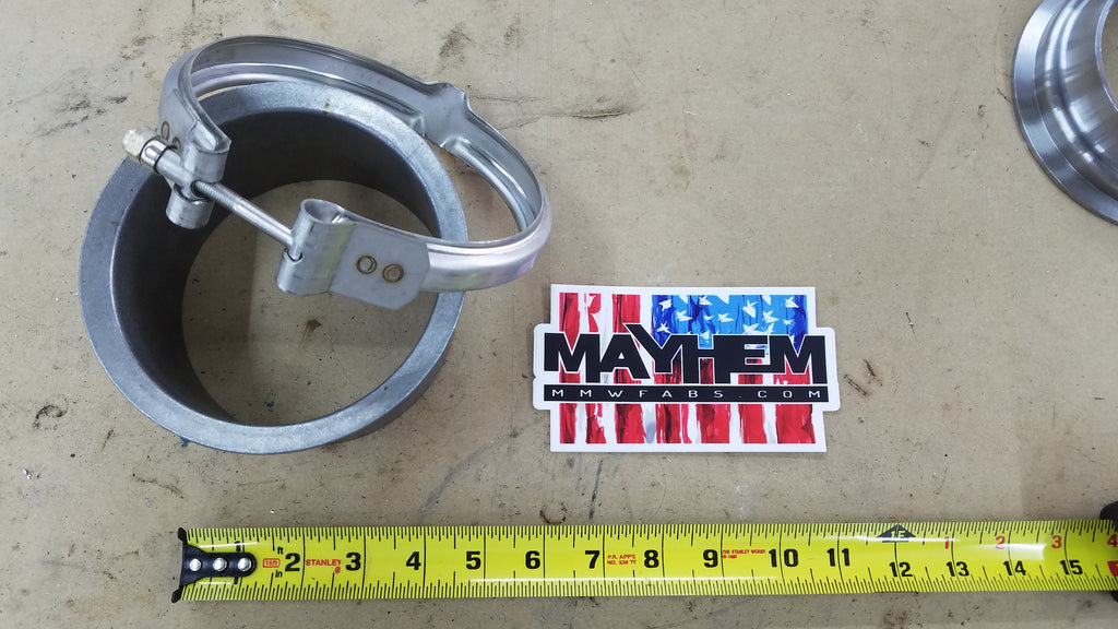 S400 / K31 T6 Exhaust outlet flange and clamp (Stub pipe) Mild steel and Stainless