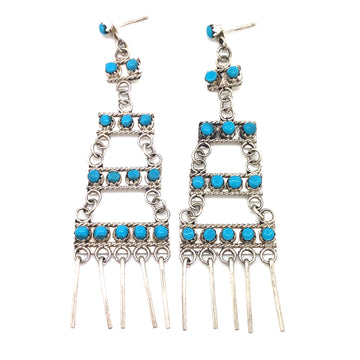 Turquoise Tier Earrings