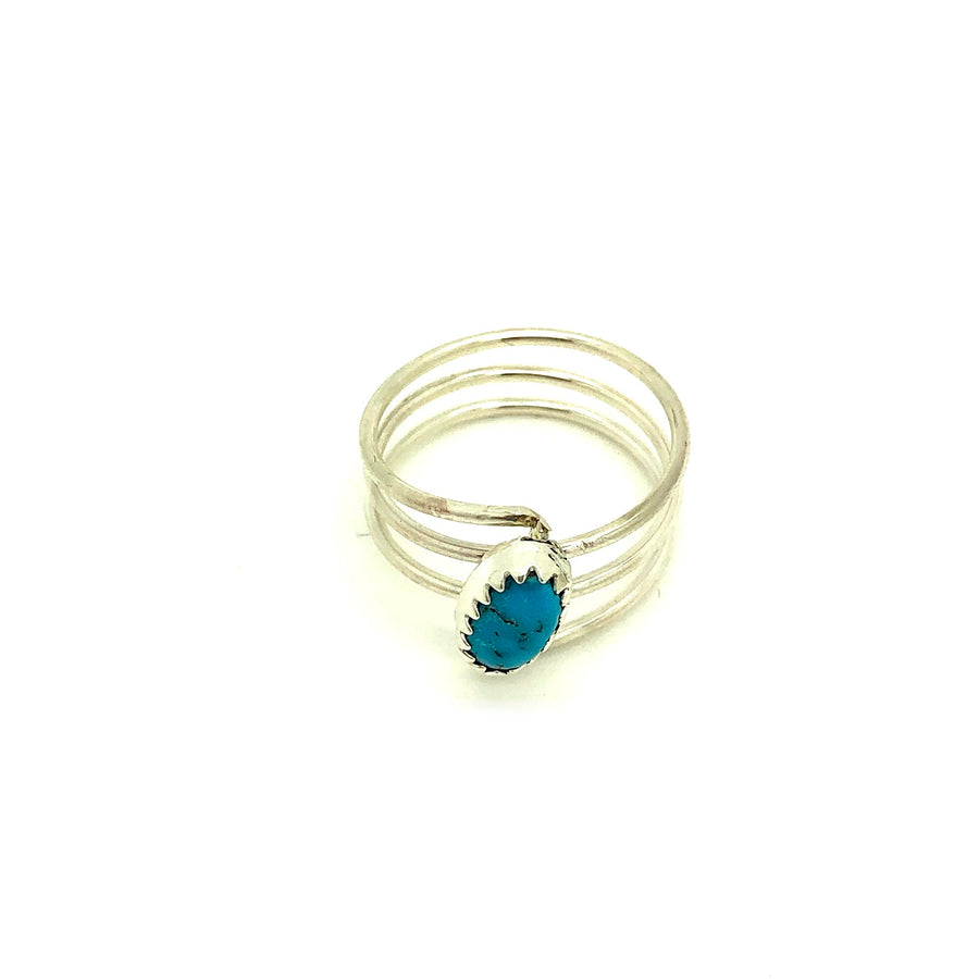 Dainty Turquoise Night Ring