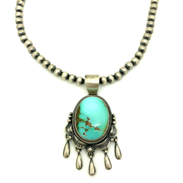 Turquoise & Navajo Pearl Necklace