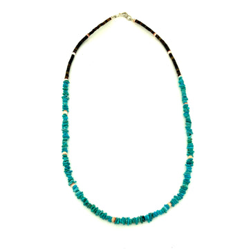 Dainty Turquoise Nugget Necklace