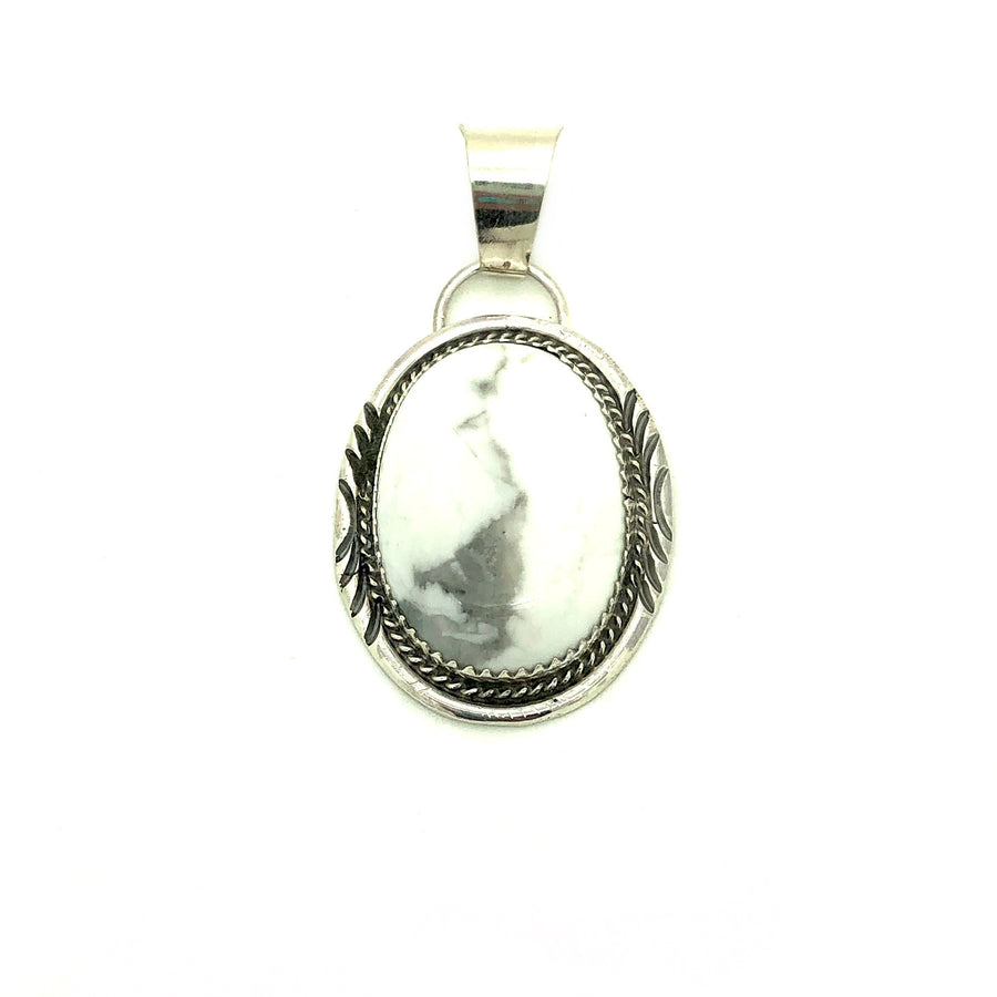Howlite Night Pendant