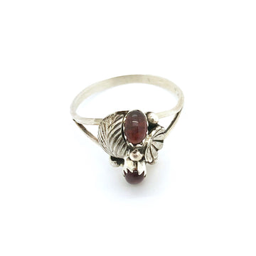 Double Purple Stone Ring
