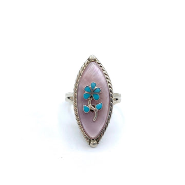 Pink Shell Daisy Ring