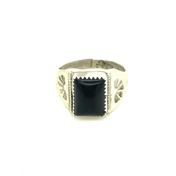 Square Onyx Ring