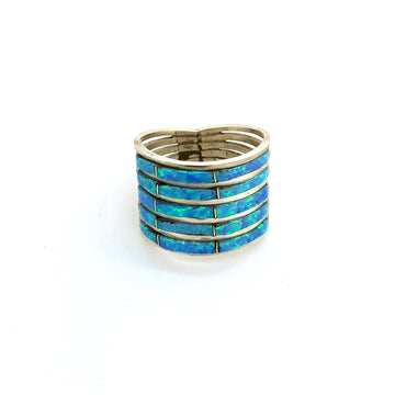 Light Blue Opal Stacked Ring