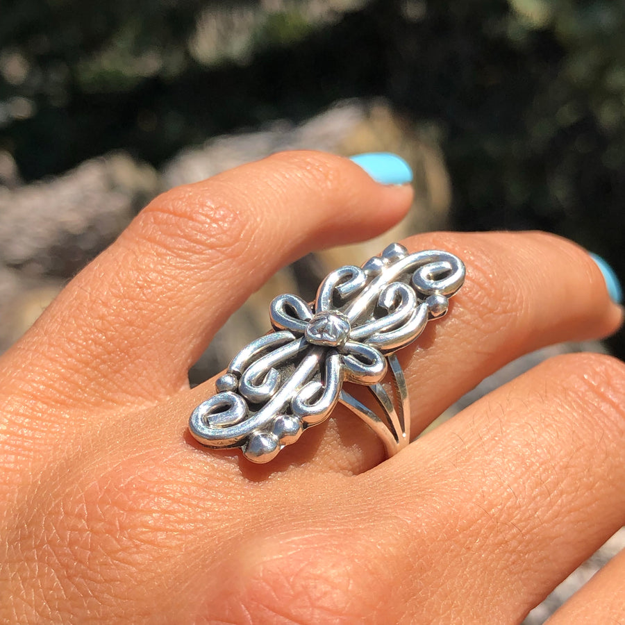 Swirling Sterling Ring