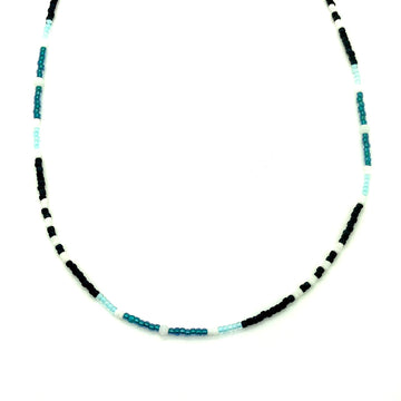 Dainty Night Waters Beaded Necklace