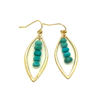 Gold and Turquoise Earrings