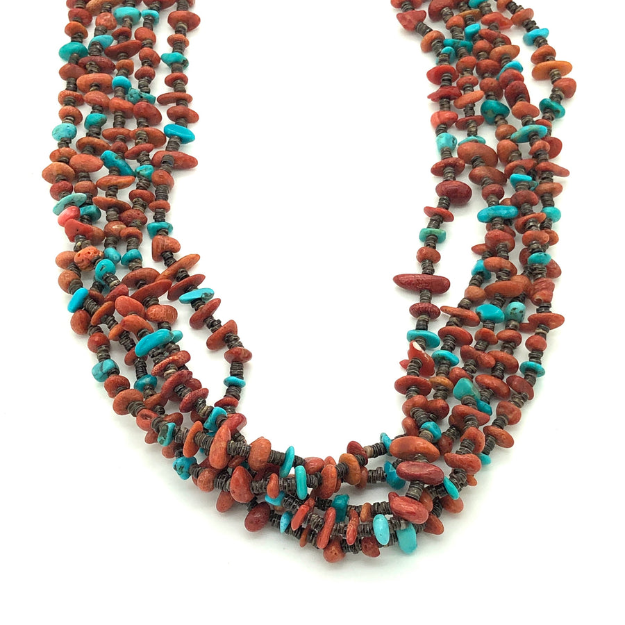 Spiny Oyster and a Turquoise Desert Necklace
