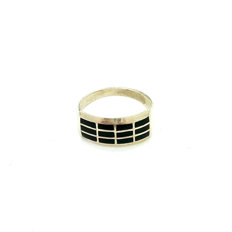 Stacked Black Onyx Ring