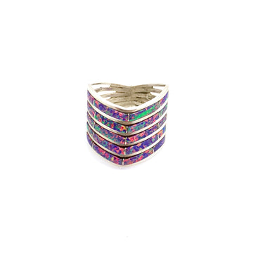 Stacked Purple Opal Ring