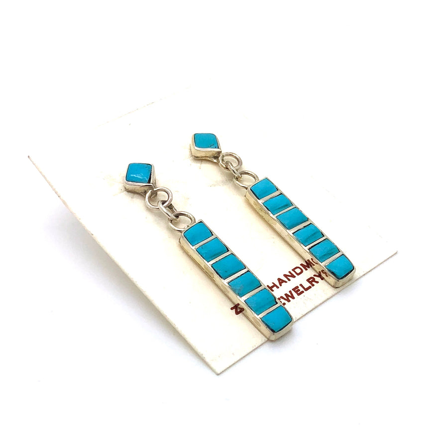 Ladder Turquoise Earrings