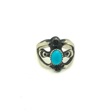 Brushed Turquoise Ring