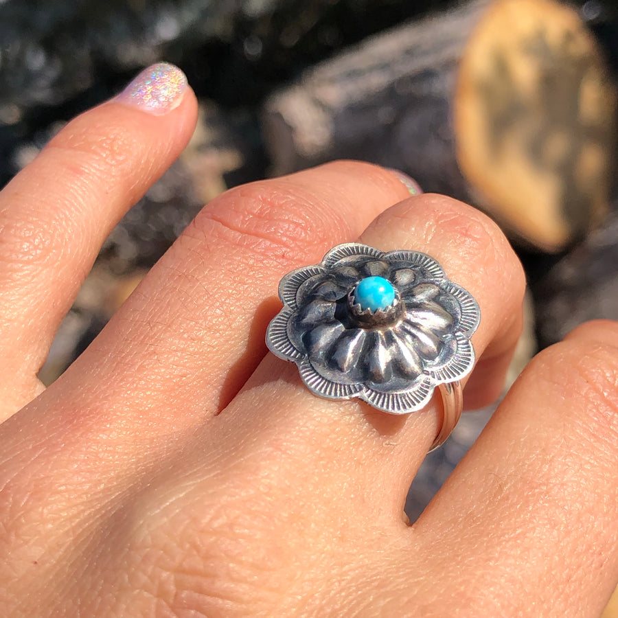 Turquoise Concho Ring