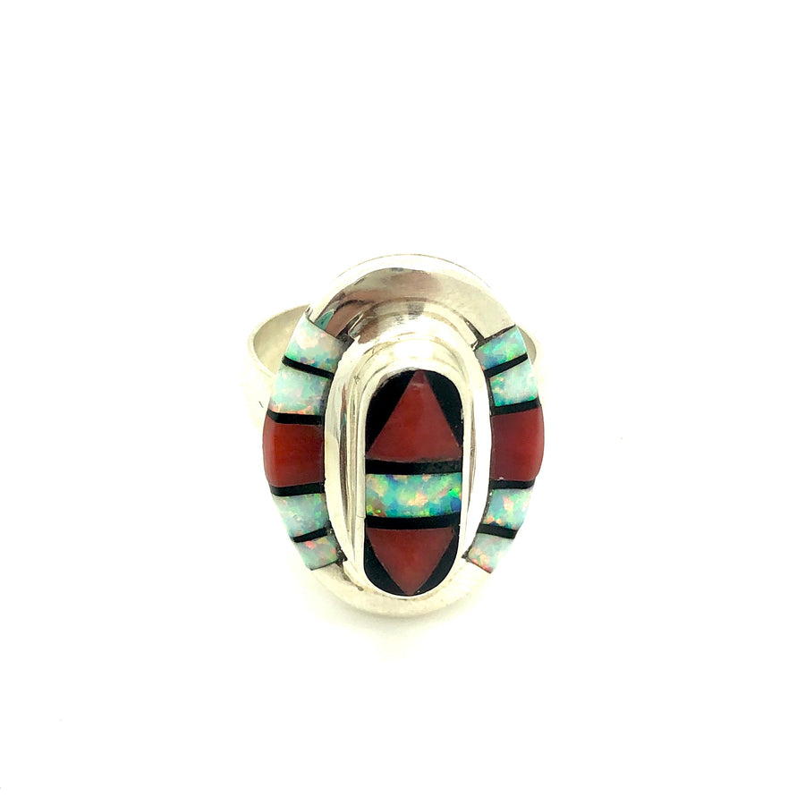 Coral Mesa Inlay Ring