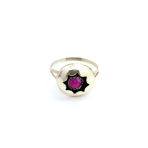 Pink Sunny Opal Ring