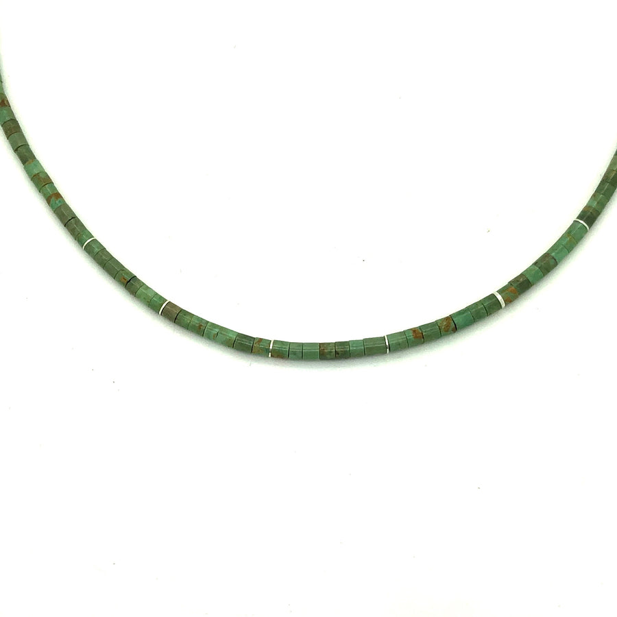 Dainty Green Turquoise Necklace