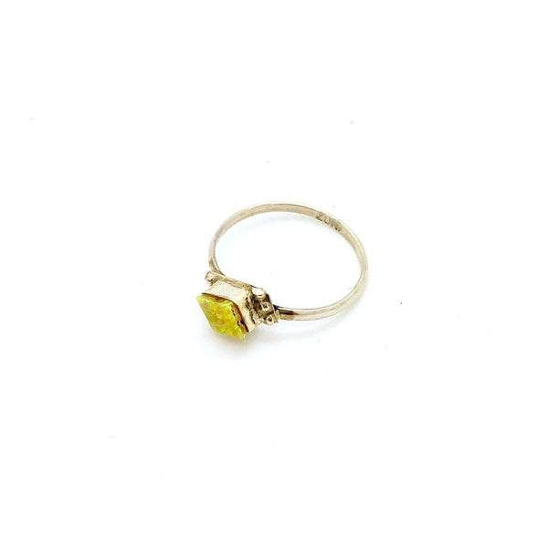 Dainty Yellow Opal Ring