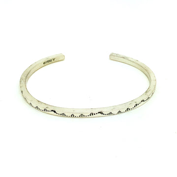 Dainty Sterling Ridge Bracelet