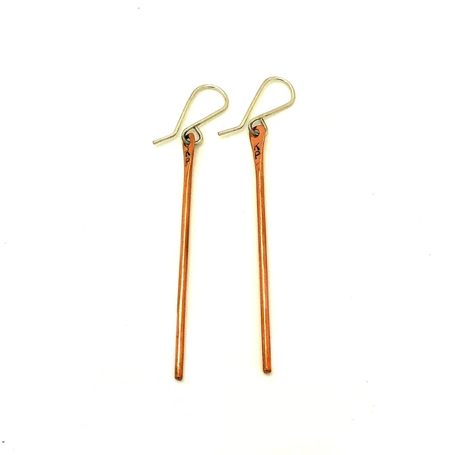 Copper Bar Earrings