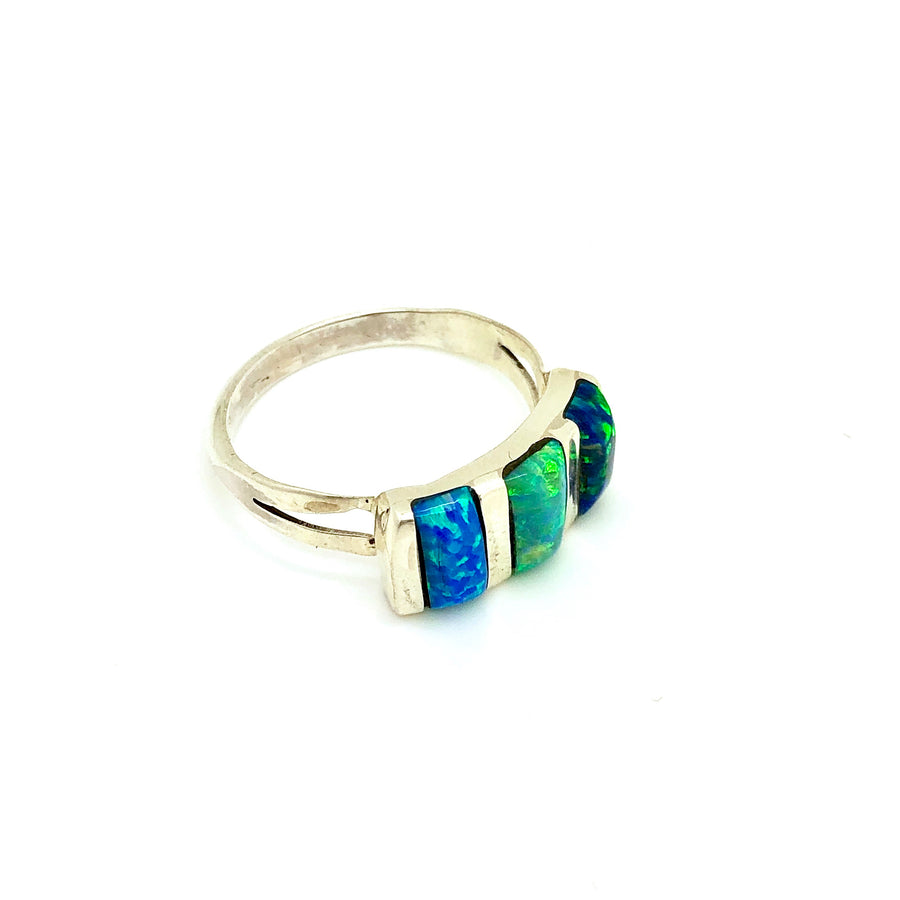 Evergreen Opal Bar Ring