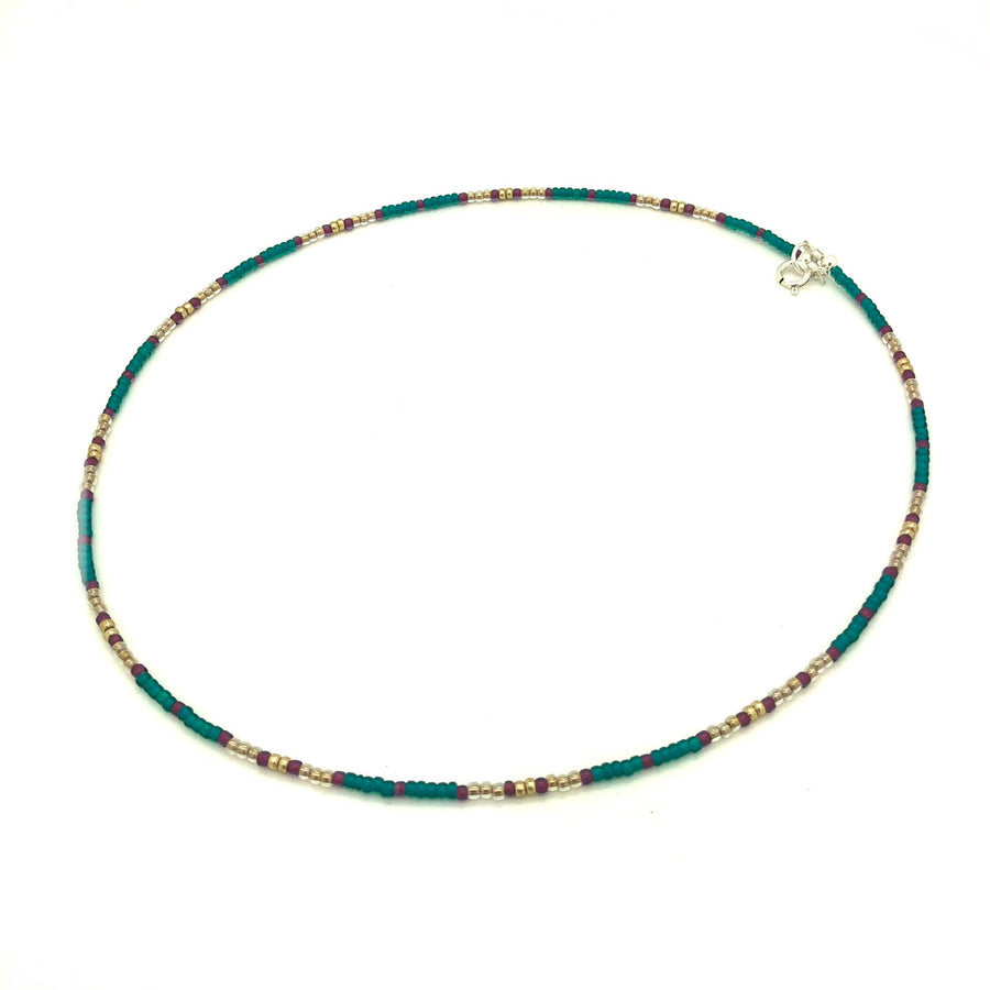 Dainty Teal Pine Necklace